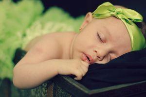 sleeping closed eyes baby