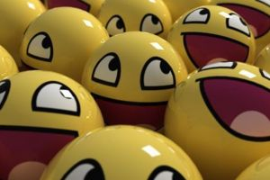 smiley happy balls render
