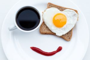 smiling food eggs toasts