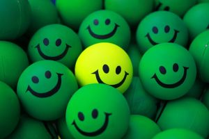 smiling smiley balls