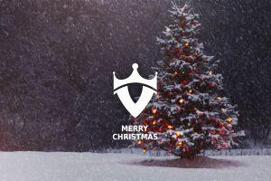 snow christmas tree christmas