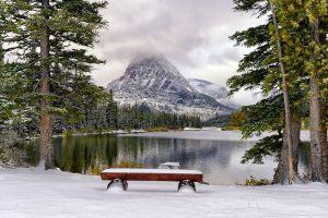 snow lake landscape
