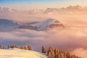 snow mountains clouds snowy mountain landscape
