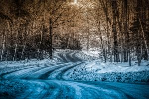 snow nature color correction winter road