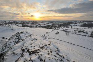 snow sunlight winter landscape