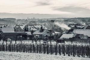 snow switzerland village winter