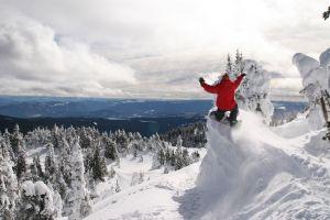 snow winter snowboards