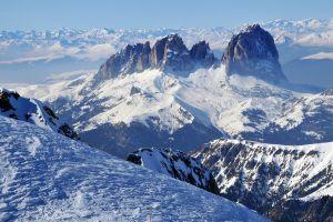 snowy mountain landscape dolomites (mountains) mountains nature