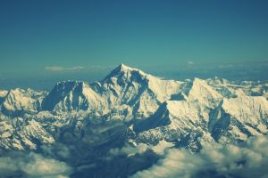 snowy mountain landscape snowy mountain himalayas aerial view mountains mount everest