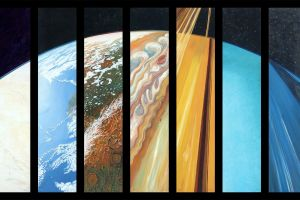 solar system planet abstract