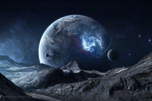 space art planet deviantart digital art