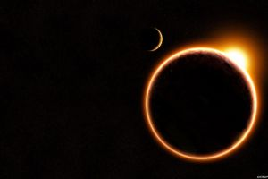 space art sun planet glowing