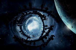 space digital art planet artwork science fiction space art