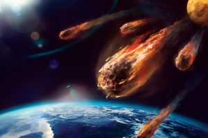 space earth meteors universe