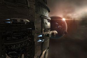 space eve online amarr spaceship