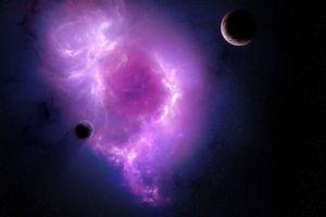 space galaxy moon