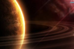 space planet space art planetary rings digital art