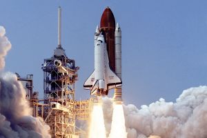 space shuttle atlantis launch pads scanned image nasa