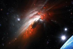space stars planet galaxy