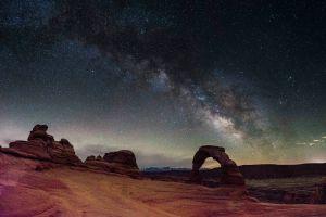 space stars universe landscape