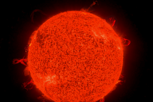 space sun astronomy digital art space art red