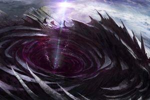 space wormholes planet artwork