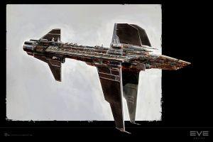 spaceship artwork eve online minmatar