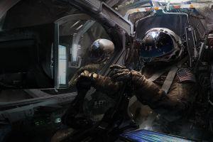 spaceship digital art artwork