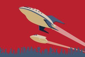 spaceship planet express minimalism futurama