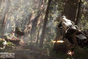 speeder bike trees endor star wars video games star wars: battlefront scout trooper battle of endor