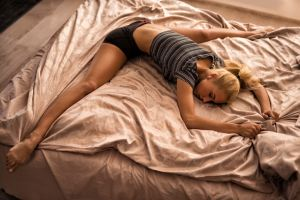 splits model women bed ass yanochka kuzmina blonde