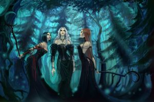 spooky artwork witch gothic fantasy art