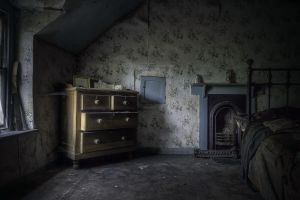 spooky house room interior gothic