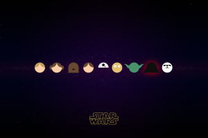star wars c-3po luke skywalker darth vader minimalism chewbacca han solo princess leia stormtrooper r2-d2 yoda
