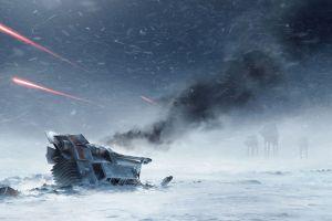 star wars hoth war video games digital art at-at