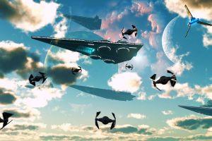 star wars ships render science fiction star wars death star star destroyer imperial forces