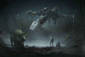 star wars: the empire strikes back luke skywalker star wars x-wing yoda movies