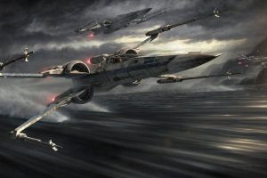 star wars x-wing artwork