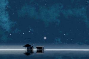 stars calm sky night