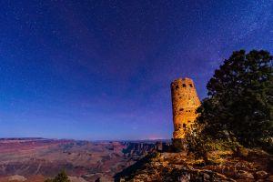 stars grand canyon landscape