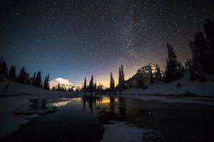 stars lake snow