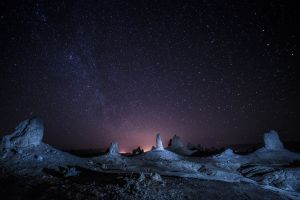 stars landscape night