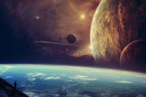 stars render moon planet