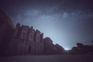 stars sky night architecture