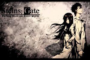 steins;gate anime okabe rintarou makise kurisu anime girls