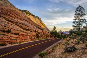 stone landscape hills road