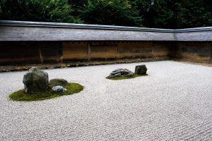 stones trees zen japanese garden garden