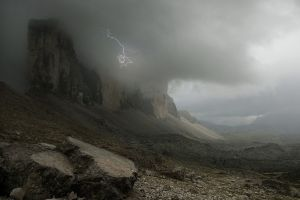 storm clouds landscape alps lightning nature mountains