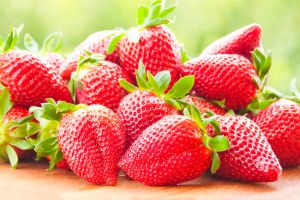 strawberries food berries fruit