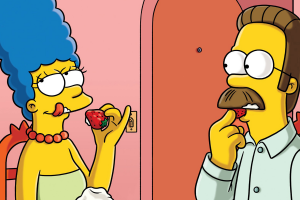 strawberries ned flanders marge simpson the simpsons